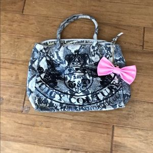 Juicy Couture snake print beach and book bag w bow